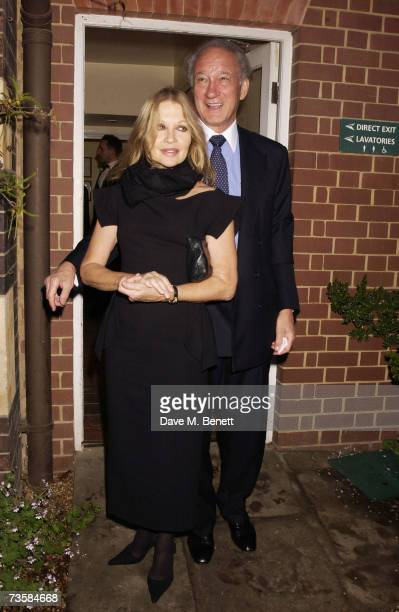Sir Mark Weinberg and his wife Lady Weinberg attend the Cartier Gala Evening at the Chelsea Physic Garden May 20 2003 in London England