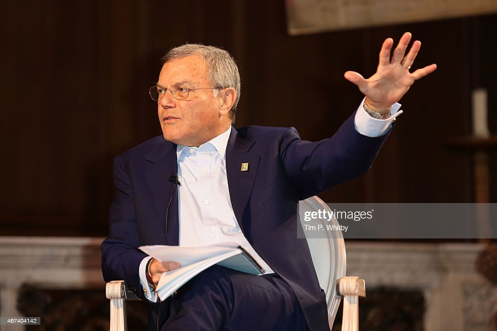 Sir Martin Sorrell speaks during Winning: Sir Martin Sorrell and Sir Ben Ainslie, part of Advertising Week Europe, Piccadilly, on March 24, 2015 in London, England.