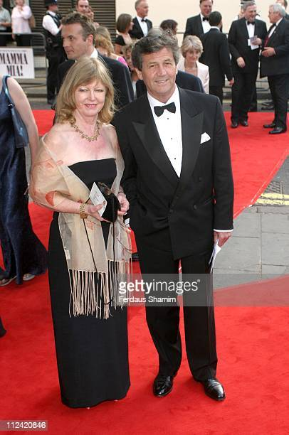 Sir Melvin Bragg and guest during The Royal Gala Charity Performance of 'Mamma Mia' at The Prince of Wales Theatre in London Great Britain