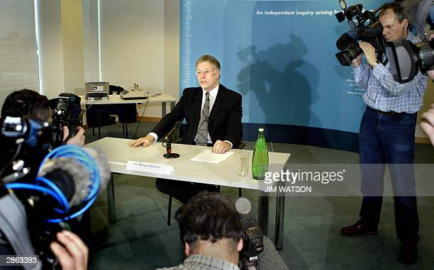 Sir Michael Bichard poses 13 January 2004 in London at the opening of the public inquiry into how Soham killer Ian Huntley got a school caretaker job...
