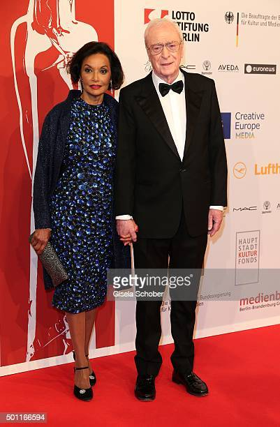 Sir Michael Caine and his wife Lady Shakira Caine during the European Film Awards 2015 at Haus Der Berliner Festspiele on December 12, 2015 in...