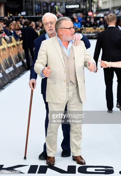 Sir Michael Caine and Ray Winstone arriving for the King of Thieves World Premiere held at Vue West End Leicester Square London PRESS ASSOCIATION...