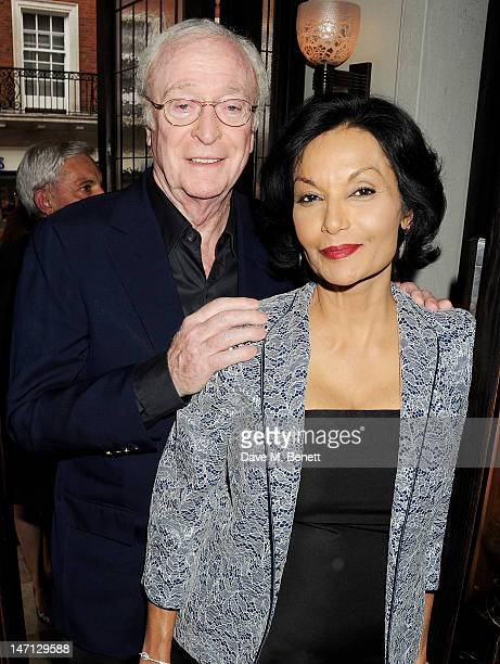 Sir Michael Caine and Shakira Caine attend as Richard Caring and Sir Philip Green host Johnny Gold's 80th Birthday at 34 Grosvenor Square on June 25...