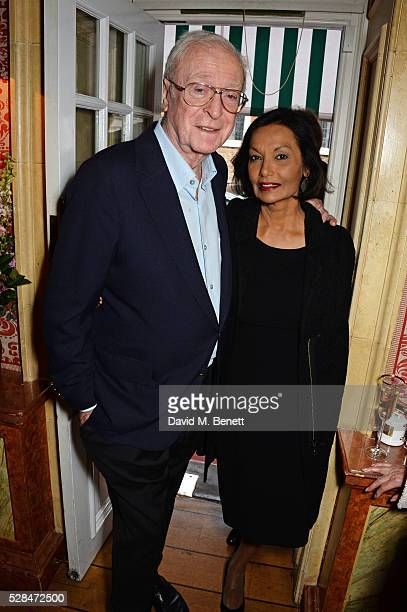 """Sir Michael Caine and Shakira Caine attend the launch of Dame Joan Collins' new book """"The St. Tropez Lonely Hearts Club"""" at Harry's Bar on May 5,..."""