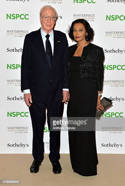 Sir Michael Caine and Shakira Caine attend the NSPCC NeoRomantic Art Gala at Masterpiece London on June 30 2015 in London England