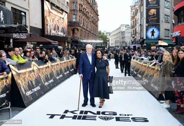 Sir Michael Caine and wife Shakira Caine arriving for the King of Thieves World Premiere held at Vue West End Leicester Square London