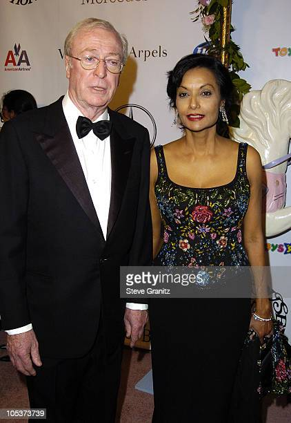 Sir Michael Caine and wife Shakira Caine during Mercedes Benz Presents the 16th Annual Carousel Of Hope Gala - Arrivals at Beverly Hilton Hotel in...