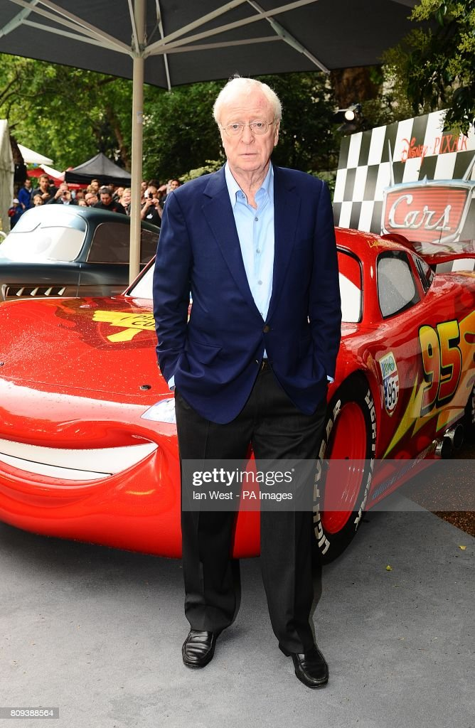 sir michael caine arriving for the cars 2 uk film premiere party at