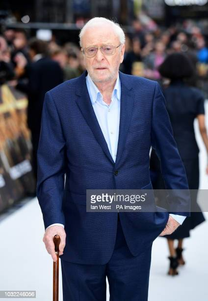 Sir Michael Caine arriving for the King of Thieves World Premiere held at Vue West End Leicester Square London PRESS ASSOCIATION Photo Picture date...