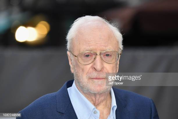 Sir Michael Caine attends the World Premiere of 'King Of Thieves' at Vue West End on September 12 2018 in London England