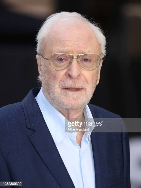 Sir Michael Caine attends the World Premiere of 'King Of Thieves' at Vue West End on September 12, 2018 in London, England.