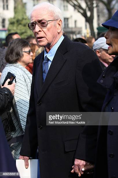 Sir Michael Caine attendss a Memorial Service for Sir Richard Attenborough at Westminster Abbey on March 17 2015 in London England