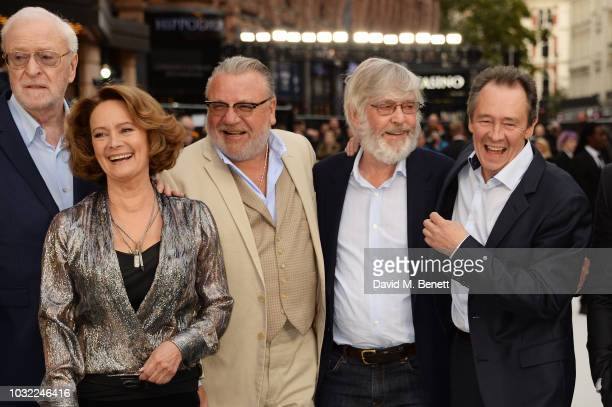 Sir Michael Caine Francesca Annis Ray Winstone Sir Tom Courtenay and Paul Whitehouse attend the World Premiere of King Of Thieves at Vue West End on...