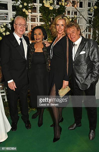 Sir Michael Caine, Lady Shakira Caine, Lady Penny Lancaster and Sir Rod Stewart attend a VIP preview of the new site for Annabel's, 46 Berkeley...