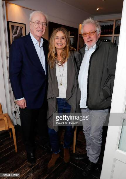 Sir Michael Caine Maryam d'Abo and Hugh Hudson attend an after party for My Generation at during the 61st BFI London Film Festival on October 8 2017...