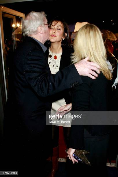 Sir Michael Caine with daughters Natasha and Nikki Caine arrive at the UK film premiere of 'Sleuth', at Odeon West End on November 18, 2007 in...