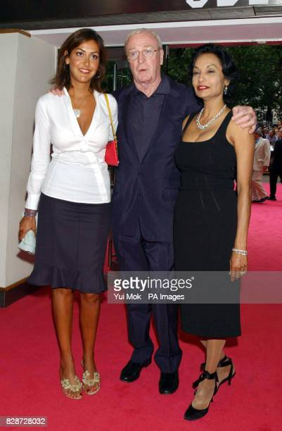 Sir Michael Caine with his wife Shakira and daughter Natasha arriving at The Odeon Leicester Square London for the UK premiere of Charlie's Angels...