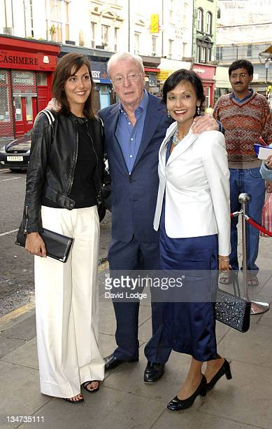 Sir Michael Caine with wife Shakira Caine and Daughter