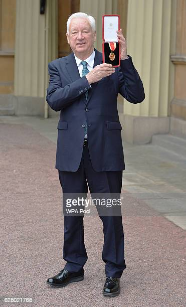 Sir Michael Craig-Martin after receiving a Knighthood by the Duke of Cambridge, during an Investiture ceremony at Buckingham Palace on December 6,...