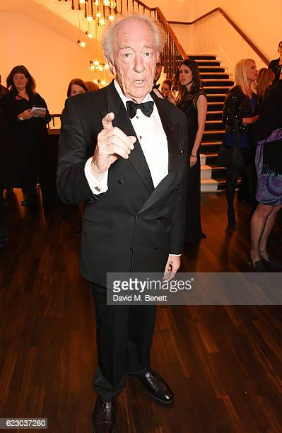 Sir Michael Gambon attends a cocktail reception at The 62nd London Evening Standard Theatre Awards recognising excellence from across the world of...