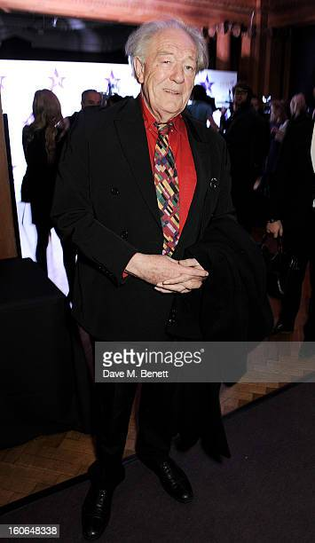 Sir Michael Gambon attends the London Evening Standard British Film Awards at the London Film Museum on February 4 2013 in London England