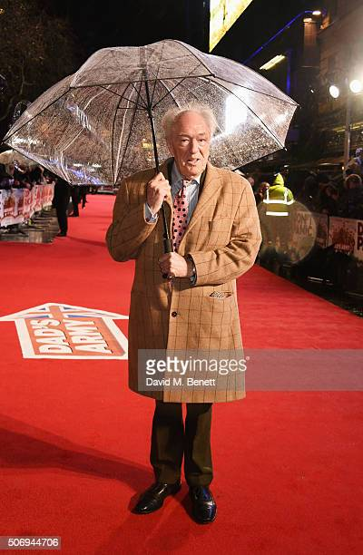 Sir Michael Gambon attends the World Premiere of 'Dad's Army' at Odeon Leicester Square on January 26 2016 in London United Kingdom