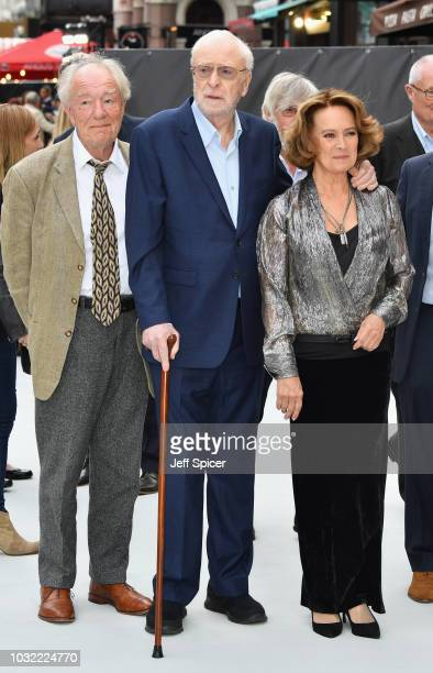 Sir Michael Gambon Sir Michael Caine and Francesca Annis attend the World Premiere of 'King Of Thieves' at Vue West End on September 12 2018 in...