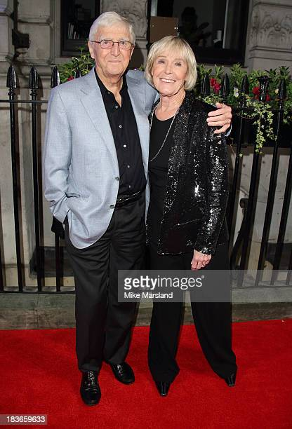 Sir Michael Parkinson and Mary Parkinson attend a gala dinner hosted by the BFI ahead of the London Film Festival at 8 Northumberland Avenue on...