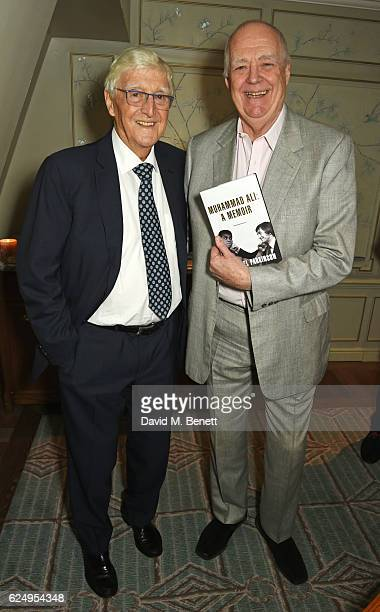 Sir Michael Parkinson and Sir Tim Rice attend the launch of Sir Michael Parkinson's new book 'Muhammad Ali A Memoir' at Fortnum Mason on November 21...