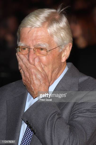 Sir Michael Parkinson attends the world premiere of The Damned United at The Vue West End on March 18 2009 in London England