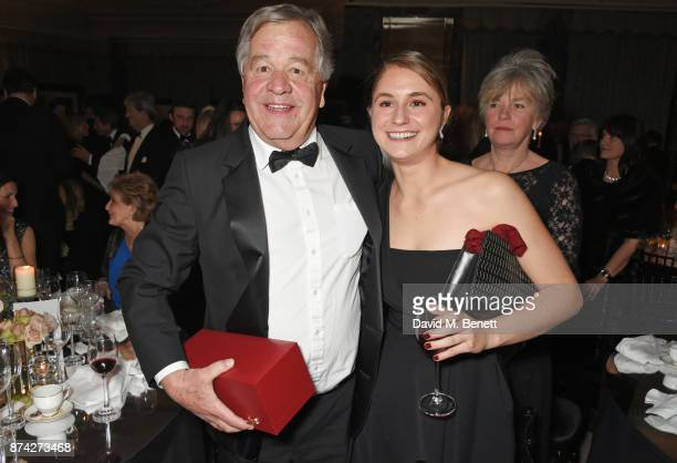 Sir Michael Stoute and Electra Niarchos attend The Cartier Racing Awards 2017 at The Dorchester on November 14 2017 in London England