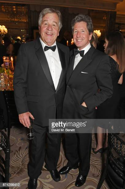 Sir Michael Stoute and John Warren attend The Cartier Racing Awards 2017 at The Dorchester on November 14 2017 in London England