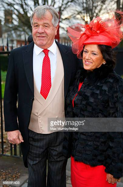 Sir Michael Stoute attends the wedding of Jake Warren and Zoe Stewart in the Wren Chapel at the Royal Hospital Chelsea on December 14 2013 in London...