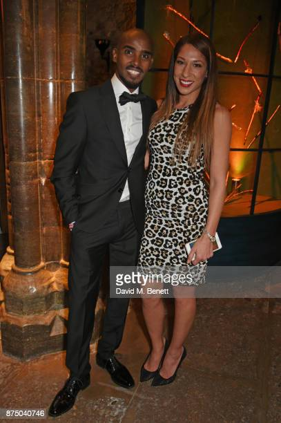 Sir Mo Farah and Tania Nell attend Save The Children's Magical Winter Gala celebrating the 20th anniversary since the publication of the first of JK...