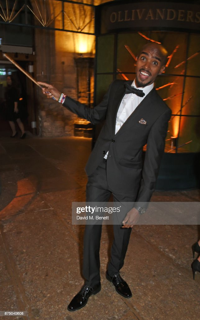 Sir Mo Farah attends Save The Children's Magical Winter Gala celebrating the 20th anniversary since the publication of the first of J.K. Rowling's Harry Potter stories at The Guildhall on November 16, 2017 in London, England.