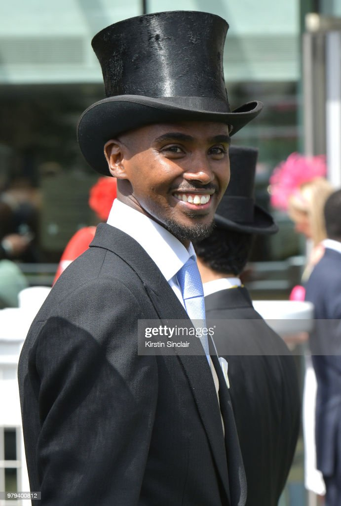 Sir Mo Farah on day 2 of Royal Ascot at Ascot Racecourse on June 20, 2018 in Ascot, England.