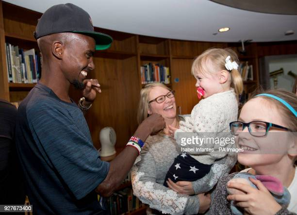 Sir Mo Farah surprises families from the North West who have been chosen to take part in the Simplyhealth Great Manchester Run Family Challenge PRESS...