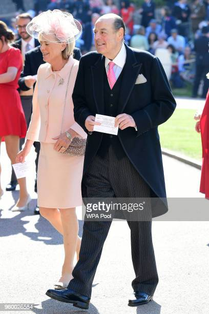 Sir Nicholas Soames arrives at St George's Chapel at Windsor Castle before the wedding of Prince Harry to Meghan Markle on May 19, 2018 in Windsor,...