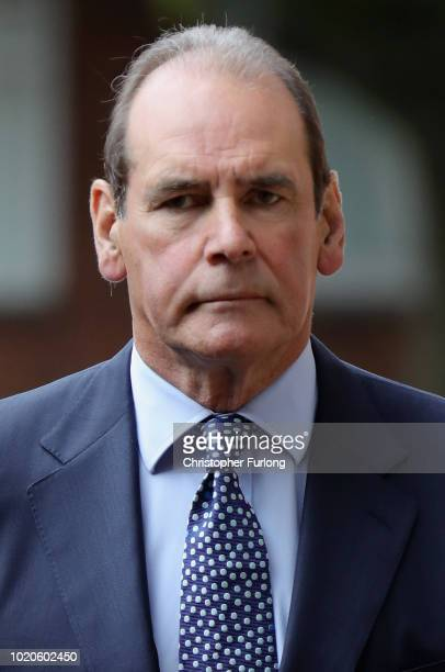 Sir Norman Bettison leaves Preston Crown Court after he was granted a stay of proceedings during a hearing on August 21 2018 in Preston England...