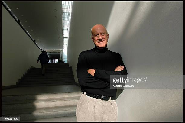 Sir Norman Foster architect at the head quarters of Foster Partners in Battersea London 20th October 2005