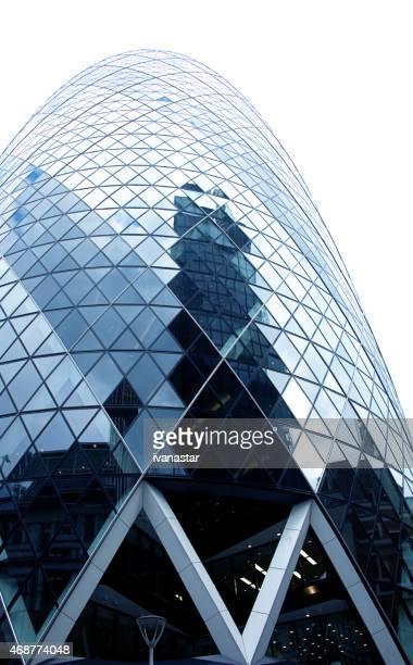 Sir Norman Foster im Gherkin Gebäude, London