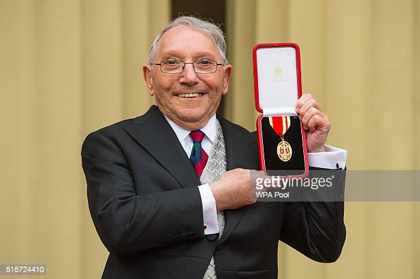 Sir Norman Stoller after receiving his Knighthood which was awarded by the Duke of Cambridge at an investiture ceremony at Buckingham Palace on March...