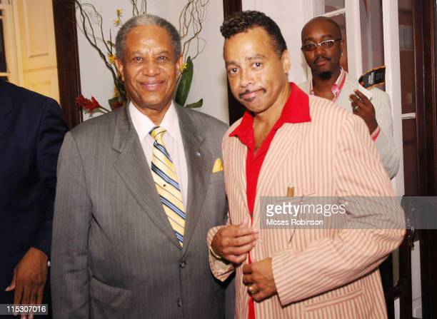 Sir Orville Turnquest Former Governor General of the Commonwealth of Bahamas Morris Day and Comedian Jonathan Slocum