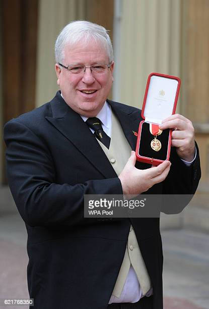 Sir Patrick McLoughlin after receiving a Knighthood at an Investiture ceremony at Buckingham Palace on November 8 2016 In London England