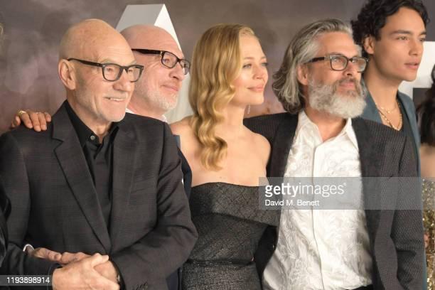 Sir Patrick Stewart Akiva Goldsman Jeri Ryan Michael Chabon and Evan Evagora attend the European Premiere of Amazon Original Star Trek Picard at...
