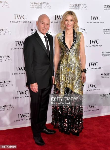 Sir Patrick Stewart and Cate Blanchett attend the IWC Filmmakers Award on day two of the 14th annual Dubai International Film Festival held at the...