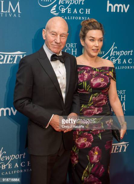 Sir Patrick Stewart and his wife attends the 'Newport Beach Film Festival' annual UK honours at The Rosewood Hotel on February 15 2018 in London...
