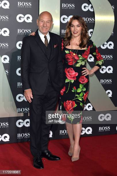 Sir Patrick Stewart and his wife Sunny Ozell attend the GQ Men Of The Year Awards 2019 at Tate Modern on September 03, 2019 in London, England.