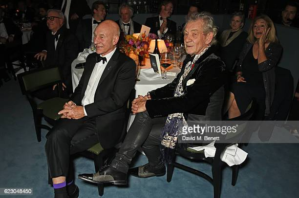 Sir Patrick Stewart and Sir Ian McKellen attend the 62nd London Evening Standard Theatre Awards, recognising excellence from across the world of...