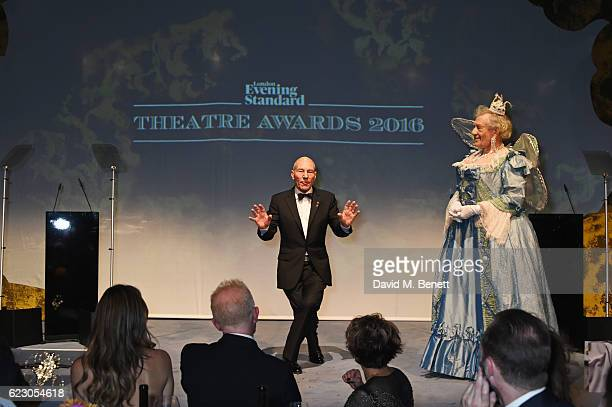 Sir Patrick Stewart and Sir Ian McKellen perform at the 62nd London Evening Standard Theatre Awards, recognising excellence from across the world of...